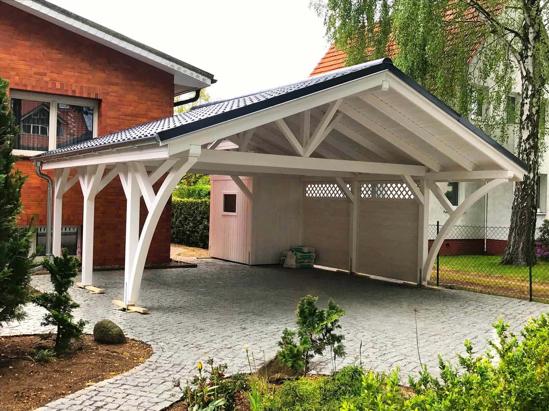 carport aus holz projekte1 main carports aus polen. Black Bedroom Furniture Sets. Home Design Ideas