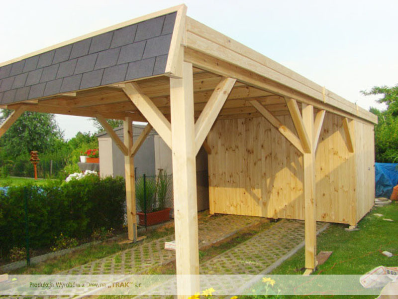 carport aus holz projekte12 005 carports aus polen. Black Bedroom Furniture Sets. Home Design Ideas