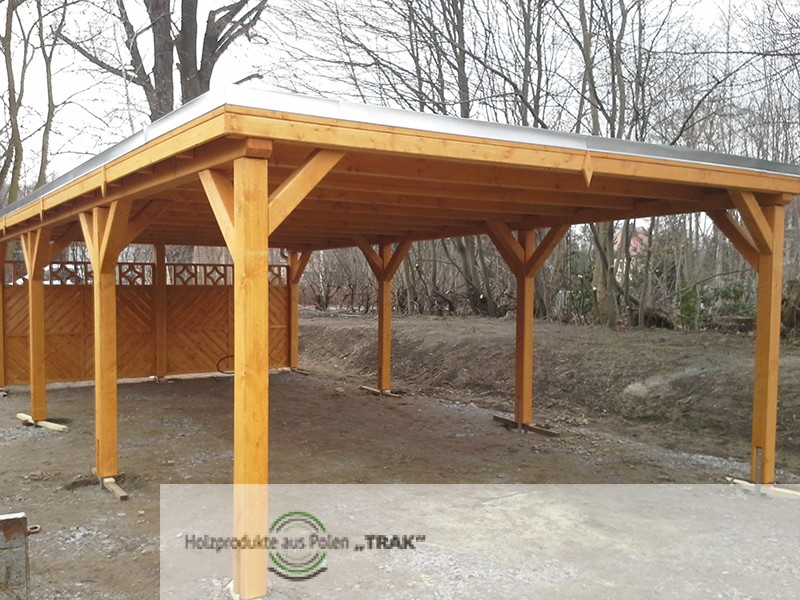carport aus holz projekte15 003 carports aus polen. Black Bedroom Furniture Sets. Home Design Ideas