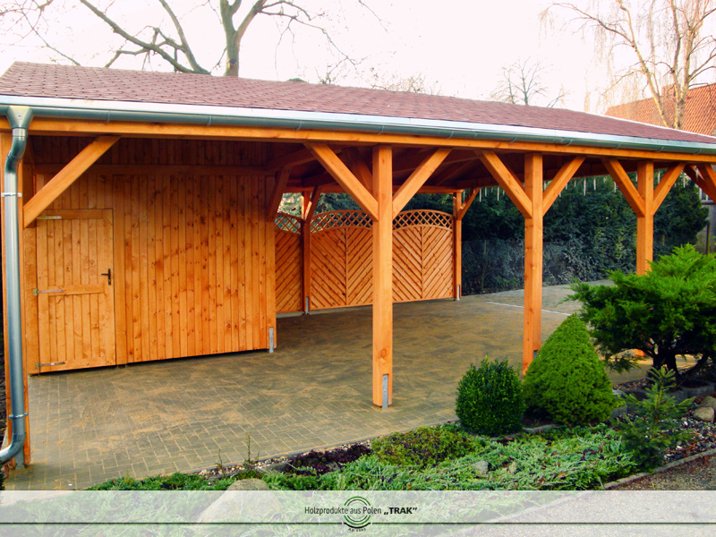 carport aus holz projekte5 003 carports aus polen. Black Bedroom Furniture Sets. Home Design Ideas