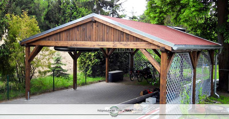 carport aus holz projekte5 005 carports aus polen. Black Bedroom Furniture Sets. Home Design Ideas
