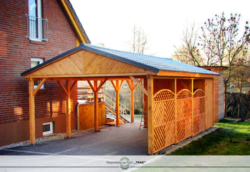 carport aus holz projekte5 006 carports aus polen. Black Bedroom Furniture Sets. Home Design Ideas