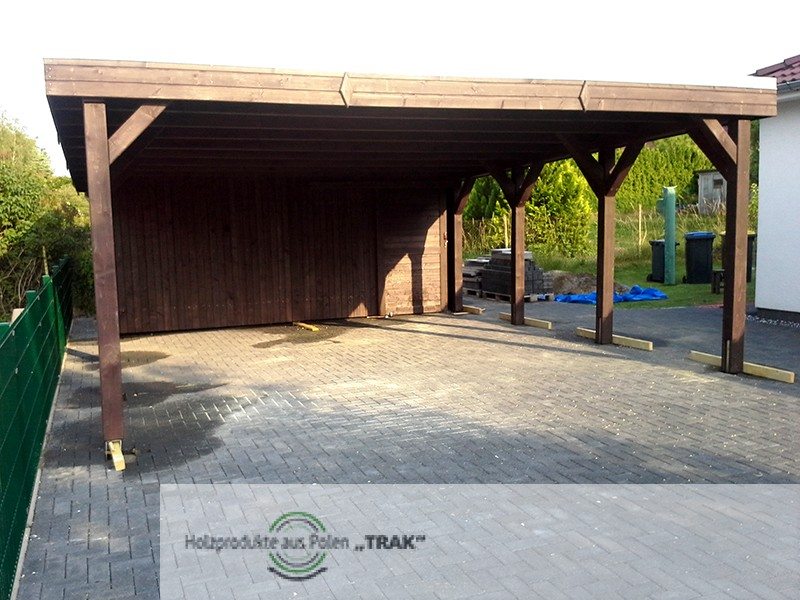 carport aus holz projekte6 008 carports aus polen. Black Bedroom Furniture Sets. Home Design Ideas