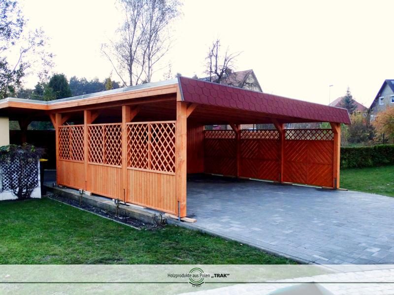 carport aus holz projekte7 001 carports aus polen. Black Bedroom Furniture Sets. Home Design Ideas
