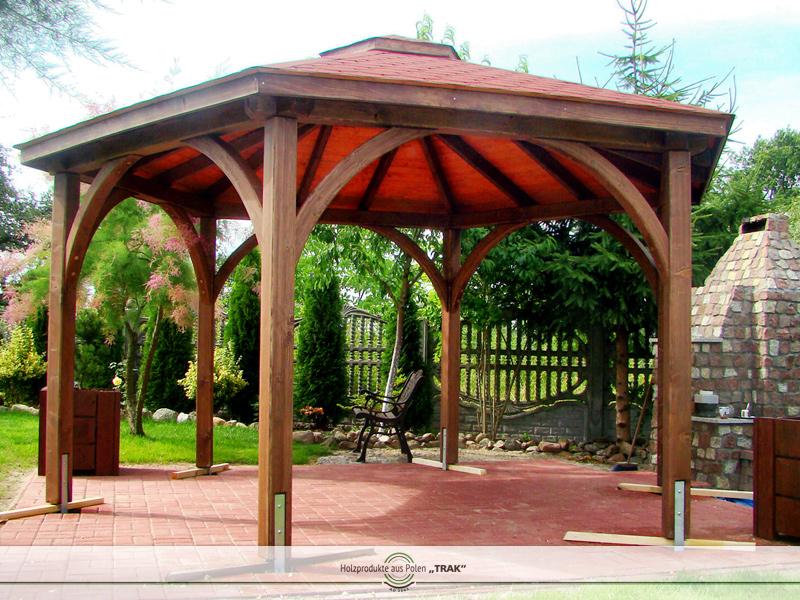 pavillon aus holz projekte1 003 carports aus polen. Black Bedroom Furniture Sets. Home Design Ideas