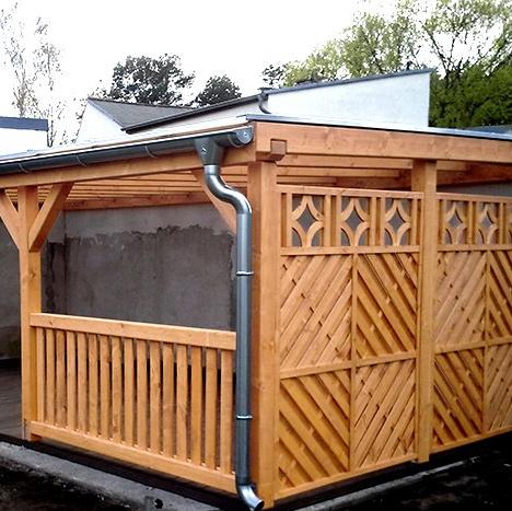 pavillon aus holz mit durchsichtige dach projekte 5 carports aus polen. Black Bedroom Furniture Sets. Home Design Ideas
