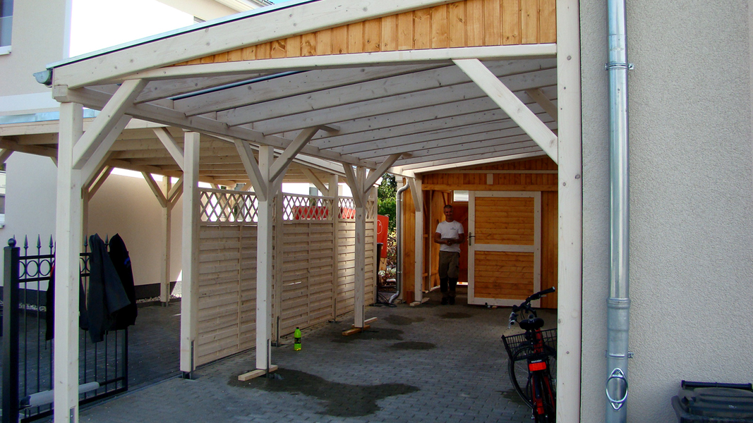 pulldach carport projekte2 005 carports aus polen. Black Bedroom Furniture Sets. Home Design Ideas