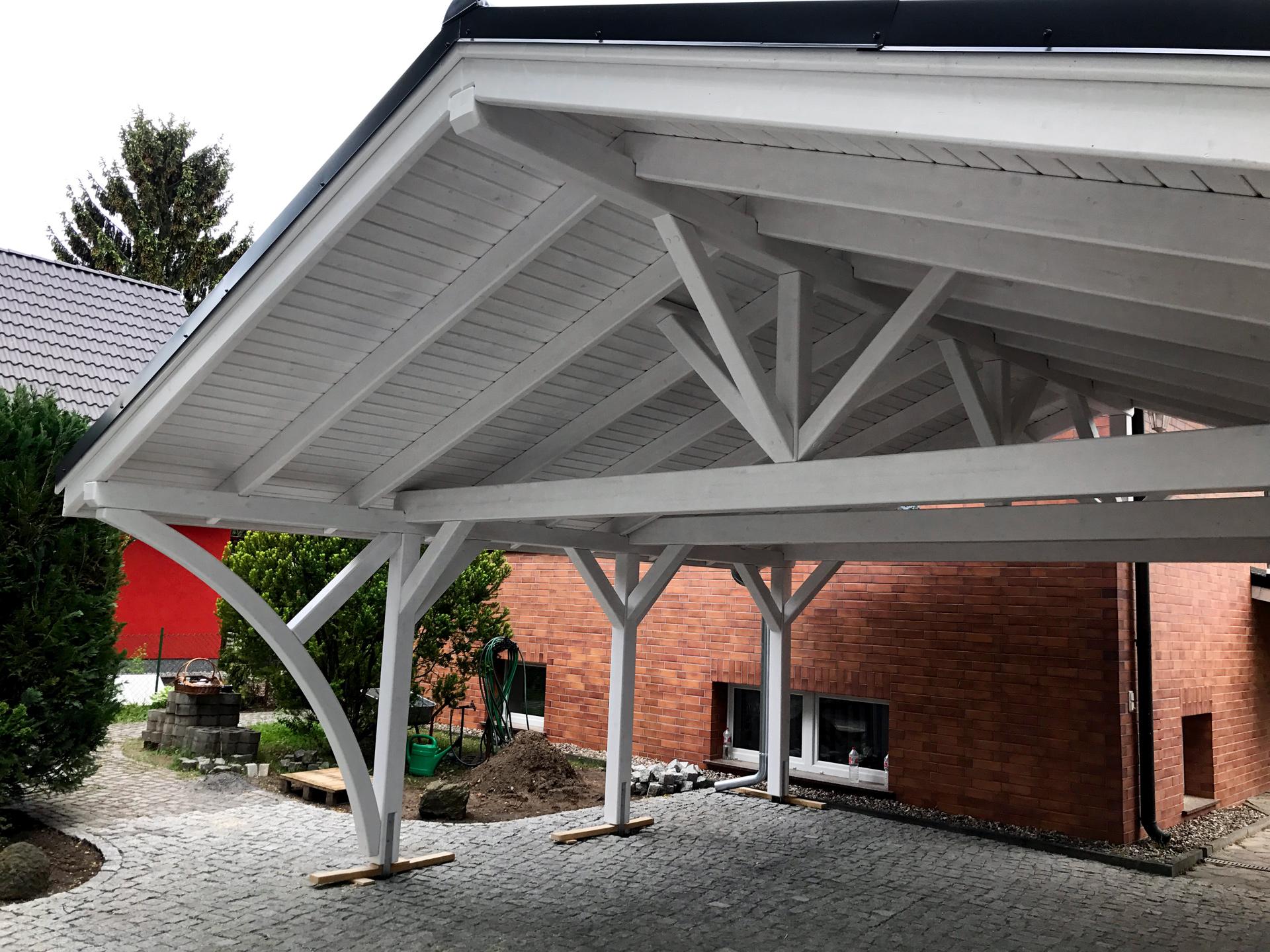 carport aus holz projekte1 003 carports aus polen. Black Bedroom Furniture Sets. Home Design Ideas