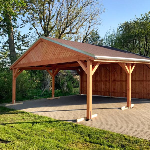 carport mit einem satteldach projekte 3. Black Bedroom Furniture Sets. Home Design Ideas