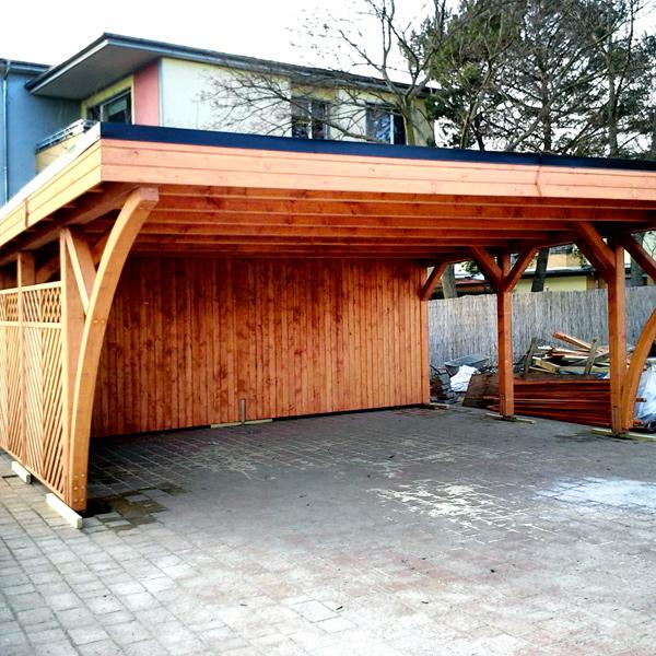 Carport Holz Oberosterreich Denvirdevinfo: Flachdach Carport Mit 2 Große Bogen