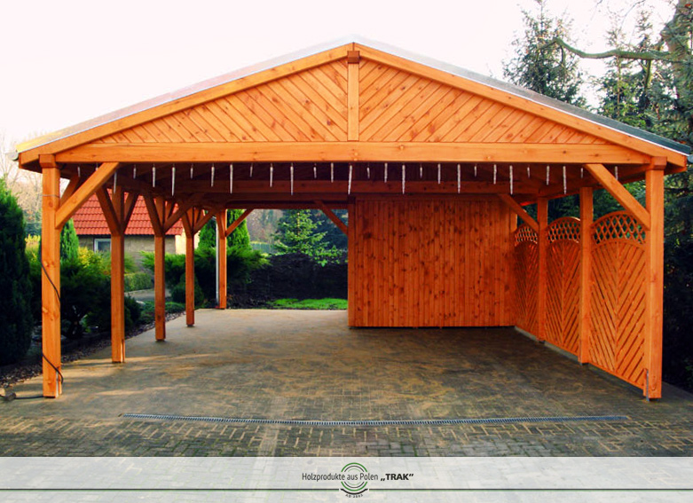 carport aus holz projekte5 001 carports aus polen. Black Bedroom Furniture Sets. Home Design Ideas