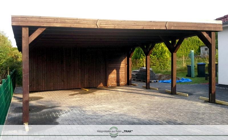 flachdach carport einfache blende carports nach mass. Black Bedroom Furniture Sets. Home Design Ideas