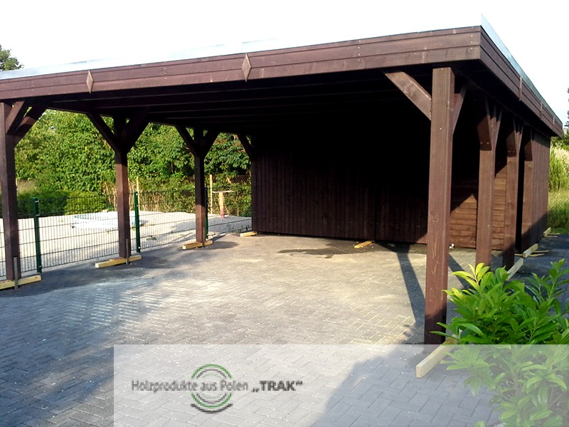 carport aus holz projekte6 007 carports aus polen. Black Bedroom Furniture Sets. Home Design Ideas