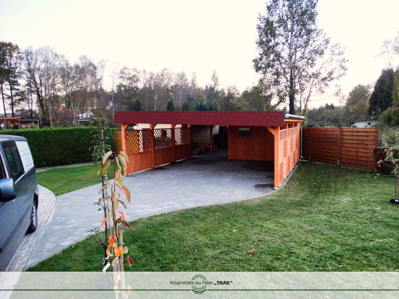 carport aus holz projekte7 005 carports aus polen. Black Bedroom Furniture Sets. Home Design Ideas