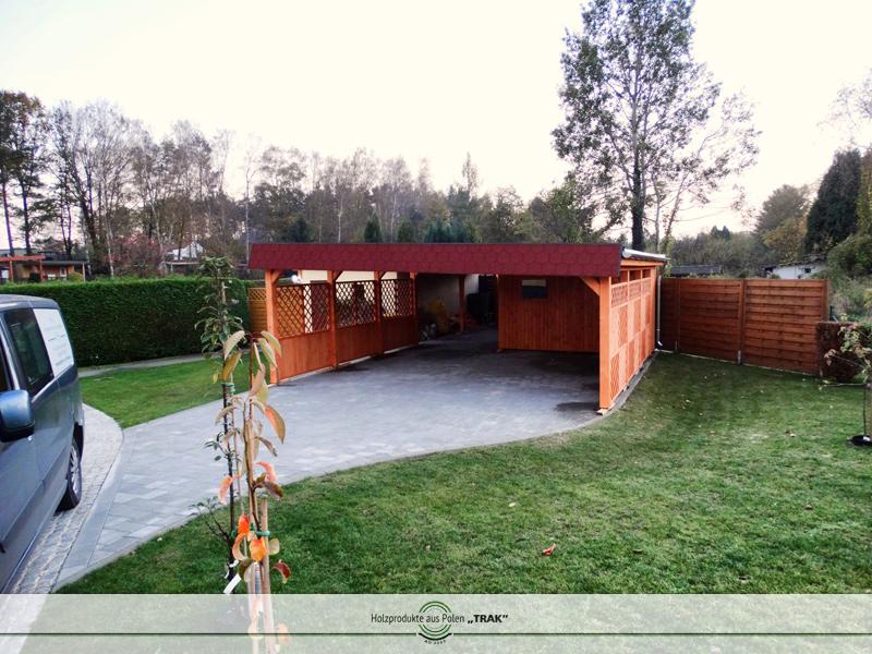 carport aus holz projekte7 005 carports aus polen. Black Bedroom Furniture Sets. Home Design Ideas