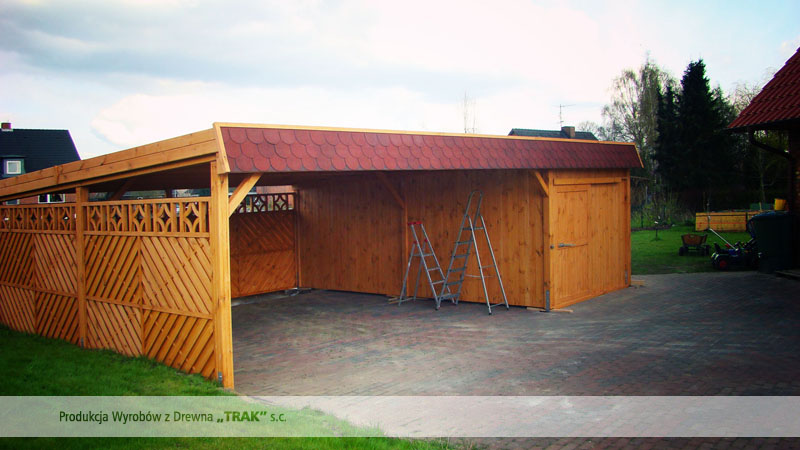 carport aus holz projekte7 007 carports aus polen. Black Bedroom Furniture Sets. Home Design Ideas