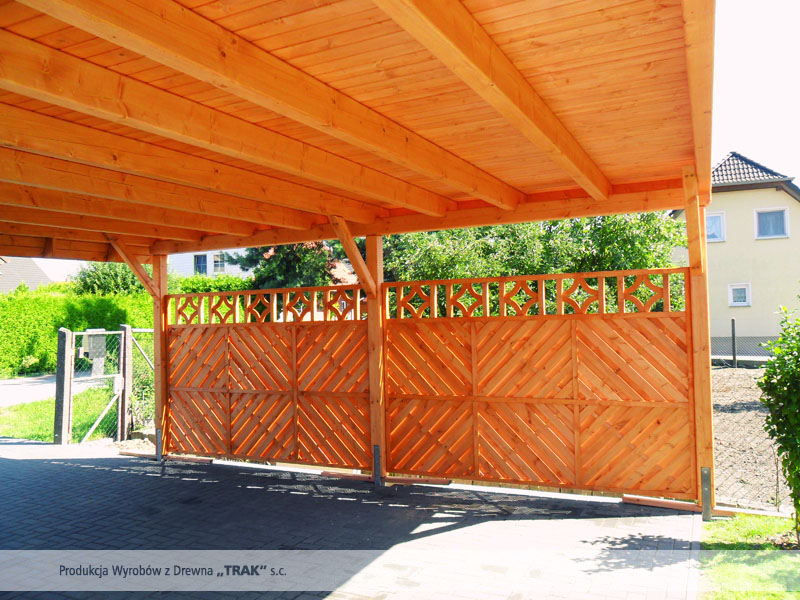 carport aus holz projekte7 010 carports aus polen. Black Bedroom Furniture Sets. Home Design Ideas
