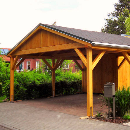 holzcarport satteldach eindeckung schindeln projekte 8 carports aus polen. Black Bedroom Furniture Sets. Home Design Ideas