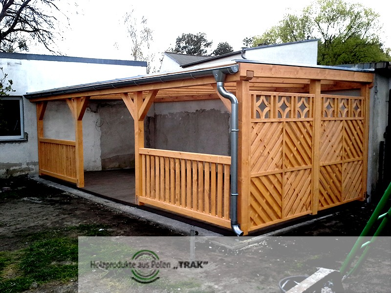 pavillon aus holz projekte5 001 carports aus polen. Black Bedroom Furniture Sets. Home Design Ideas