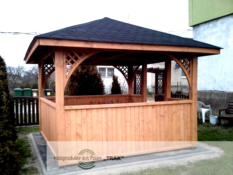 pavillon aus holz projekte5 003 carports aus polen. Black Bedroom Furniture Sets. Home Design Ideas