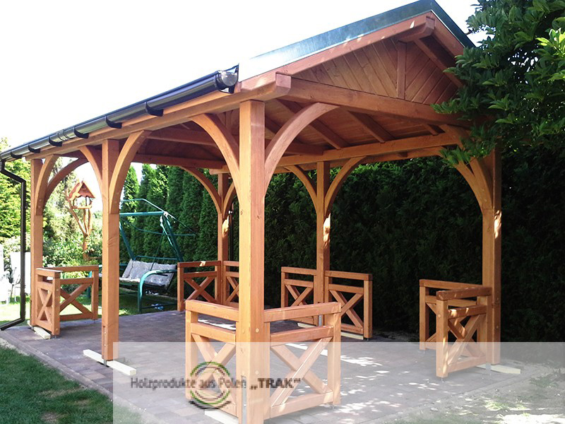 gro e pavillon mit satteldach projekte 8 carports aus polen. Black Bedroom Furniture Sets. Home Design Ideas