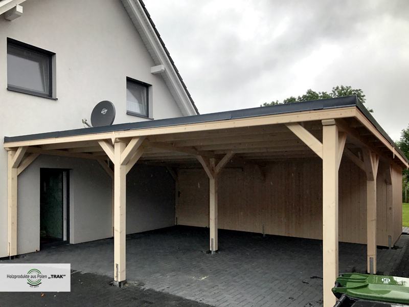 carport aus holz projekte 20 carports aus polen. Black Bedroom Furniture Sets. Home Design Ideas