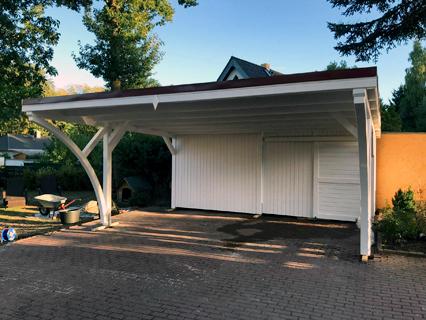 Pultdach Carport