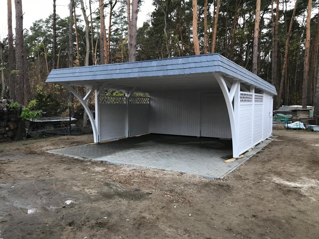 Exklusive Flachdach carport aus BSH