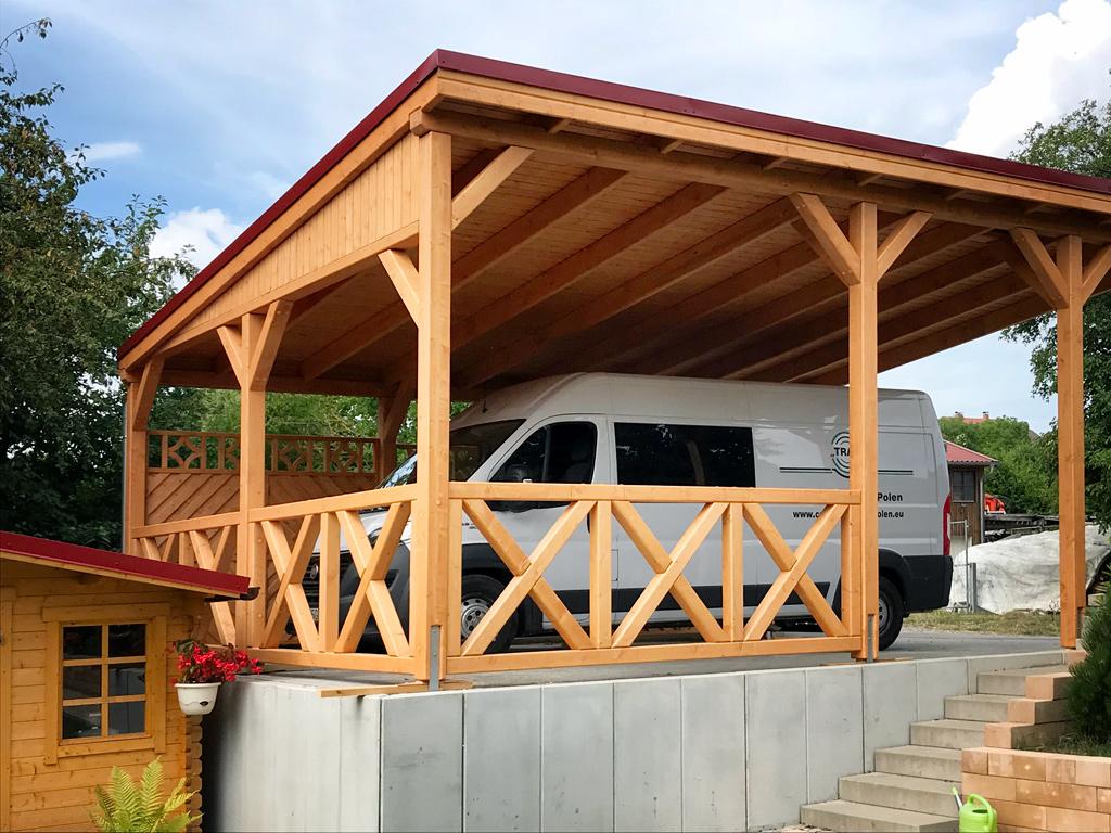 Pultdach Carport aus KVH