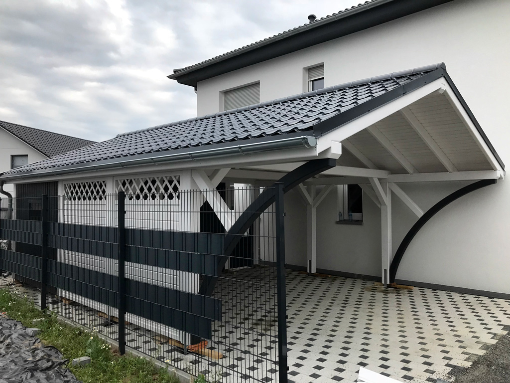 satteldach carport projekte 27 carports aus polen. Black Bedroom Furniture Sets. Home Design Ideas