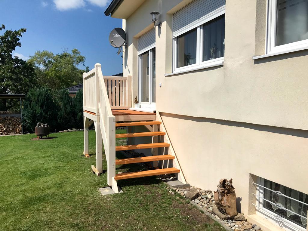 Treppe zum Garten